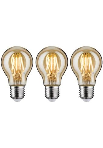 Paulmann LED-Leuchtmittel »3er Pack 4,7 W AGL E27 gold«, E27, 3 St., Warmweiß kaufen