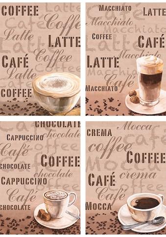 Artland Poster »Milchkaffee Latte MacchiatoChocolate«, Getränke, (4 St.), Poster,... kaufen