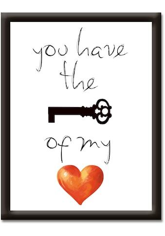 Artland Wandbild »Schlüssel für mein Herz« kaufen