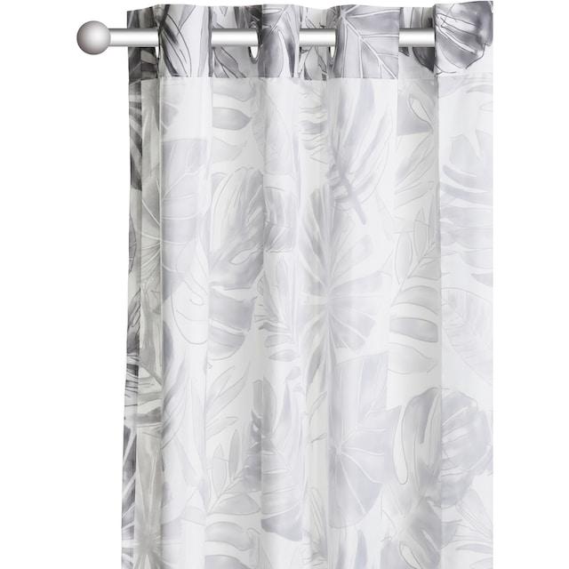 Vorhang, »MONSTERA«, my home, Ösen 1 Stück