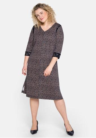 Sheego Jerseykleid, mit Alloverprint und Spitzeneinsätzen kaufen