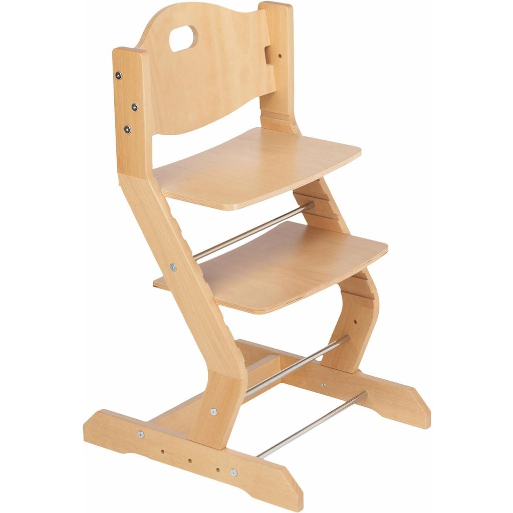 tiSsi® Hochstuhl »Grundgestell Buche Natur«, aus Holz; Made in Europe