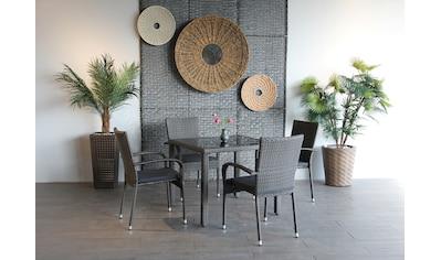 Ploß Gartenstuhl »BRADFORD«, 4er Set, Stahl, klappbar, graphit kaufen