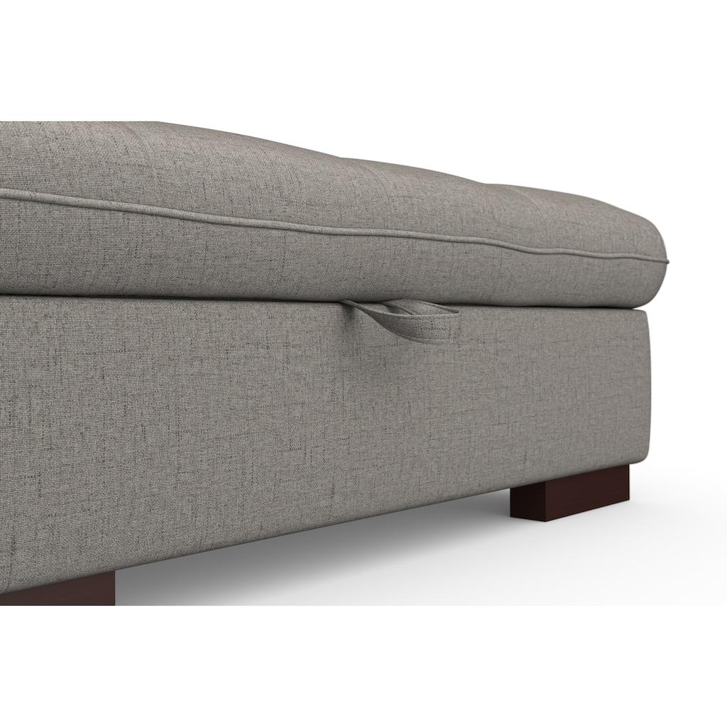 """sit&more Ecksofa, wahlweise mit Bettfunktion, Bettkasten und Kopfteilverstellung, auch erhältlich in dem besonders leicht mit Wasser zu reinigendem """"Soft clean"""" Bezug"""