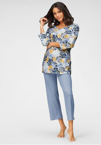 Cybèle Pyjama, mit Blätterprint kaufen