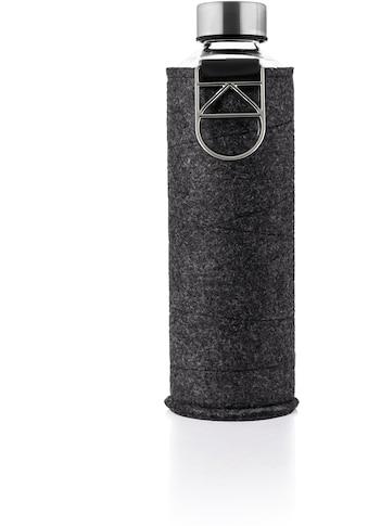 equa Trinkflasche »Mismatch«, Borosilikatglas, mit Filzcover und Metallgriff kaufen