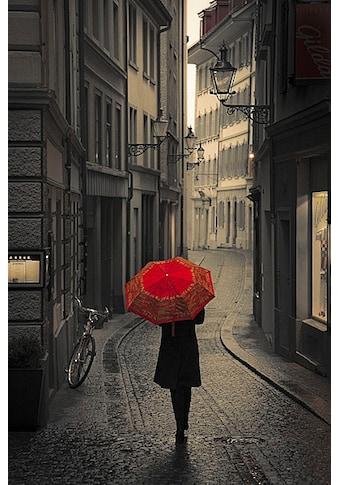 my home Kunstdruck »S. CORSO, Roter Regen«, (1 St.) kaufen