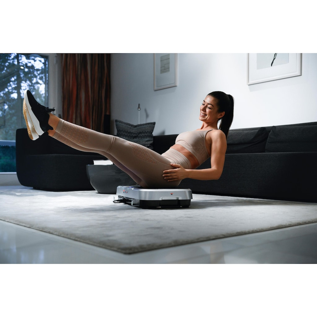 Christopeit Sport® Vibrationsplatte »Vibro 3000«, mit Transportrollen und ausziehbaren Griff