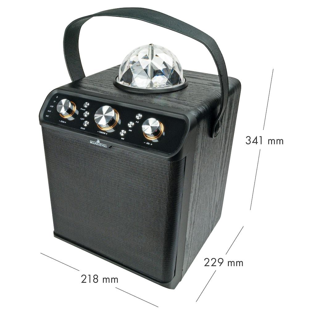 Schwaiger Bluetooth Lautsprecher, Party Speaker mit Disco-Licht