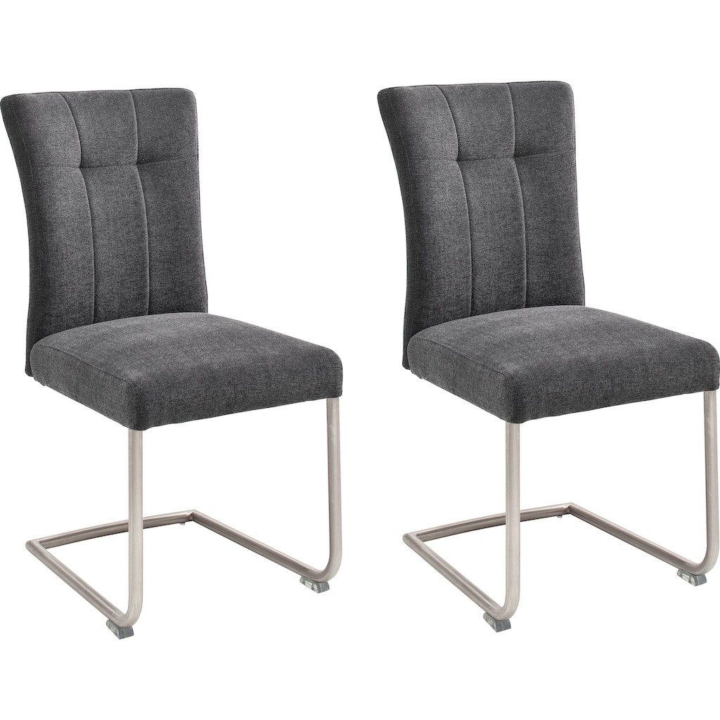MCA furniture Freischwinger »Calanda«, Esszimmerstuhl mit Aqua Clean Bezug, Nosag Federung, belastbar bis 120 kg
