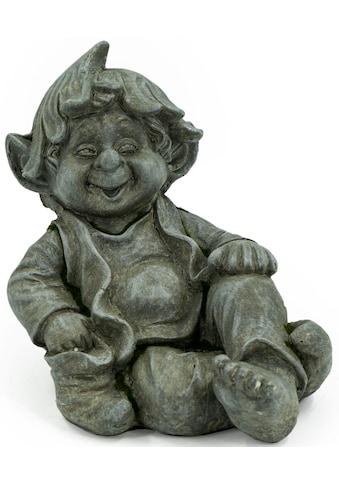 NOOR LIVING Gartenfigur »Gnom sitzend«, (1 St.) kaufen