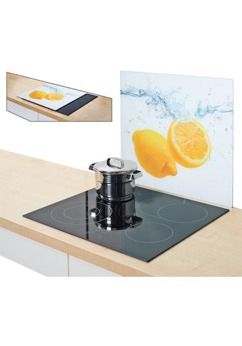 Zeller Present Herdblende-/Abdeckplatte »Lemon Splash«, Silikonfüßen kaufen