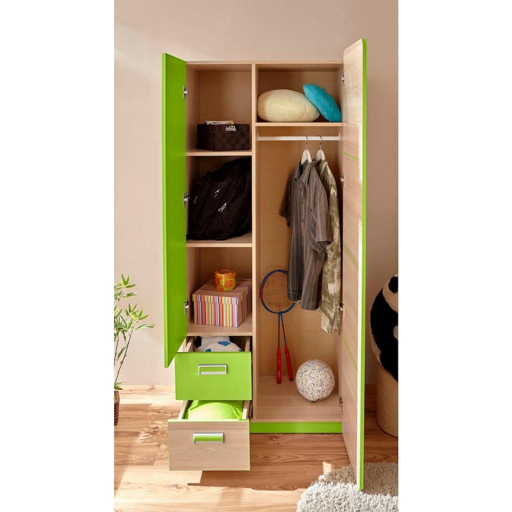 Ticaa Jugendzimmer-Set »Lori«, (Set, 6 tlg.), Bett + Schrank + Schreibtisch + Standregal + Wandregal + Nachttisch