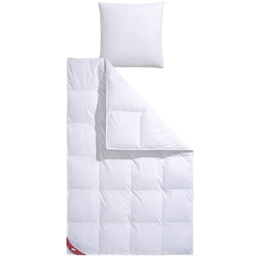 RIBECO Federbettdecke »extra prall«, extrawarm, Füllung 50% Daunen & 50% Federn, Bezug 100% Baumwolle, (1 St.), Extra hoher Außensteg für viel Volumen