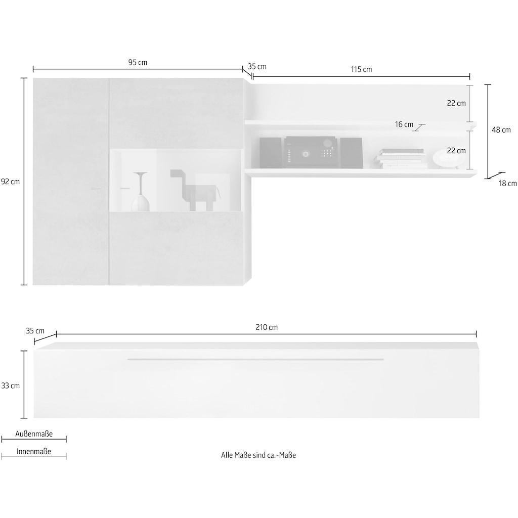 LC Wohnwand »Infinity«, (Set, 3 St.)