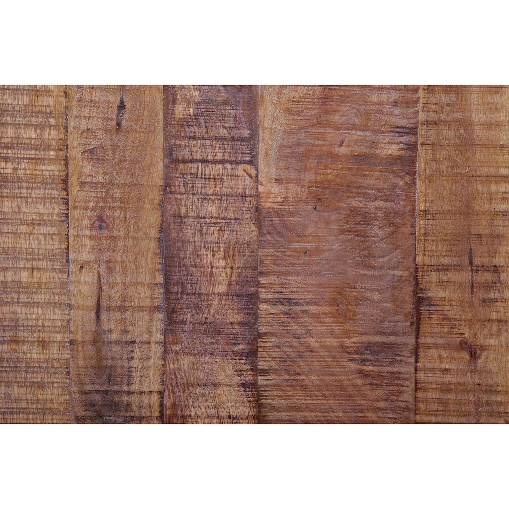 Gutmann Factory Couchtisch »Oriental«, aus Massivholz Mango, in rauchiger Optik, quadratisch