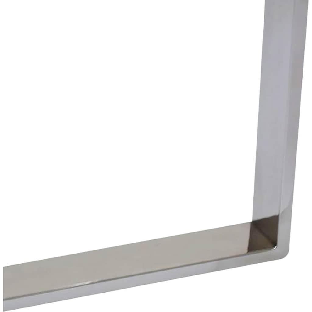 Leonique Couchtisch »Palmer«, rund, Gestell aus Edelstahl, Glastisch
