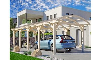 Skanholz Einzelcarport »Franken«, Leimholz-Nordisches Fichtenholz, 300 cm, natur kaufen