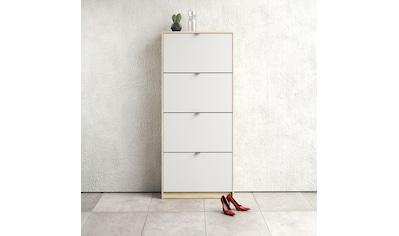 Home affaire Schuhschrank »Shoes«, mit vier Klappen, in verschiedenen Farbvarianten erhältlich kaufen