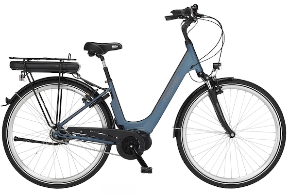 blaues E-Bike