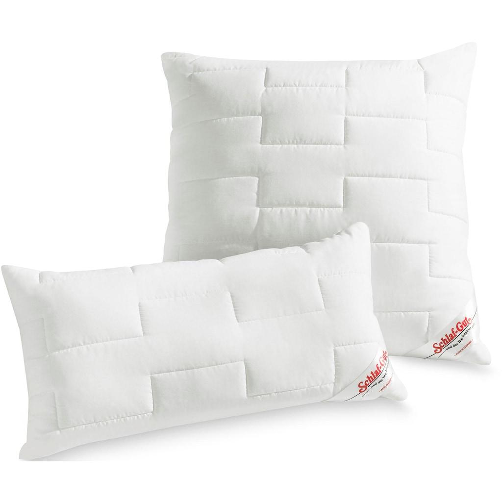 Schlaf-Gut Microfaserkissen »Utah«, Füllung: Faserbällchen aus Polyester, Bezug: Baumwoll-/Polyestergewebe, versteppt, (1 St.), Strapazierfähig und günstig