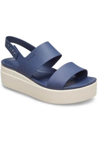 Crocs Badesandale »Brooklyn Low Wedge«, mit heller Plateausohle kaufen