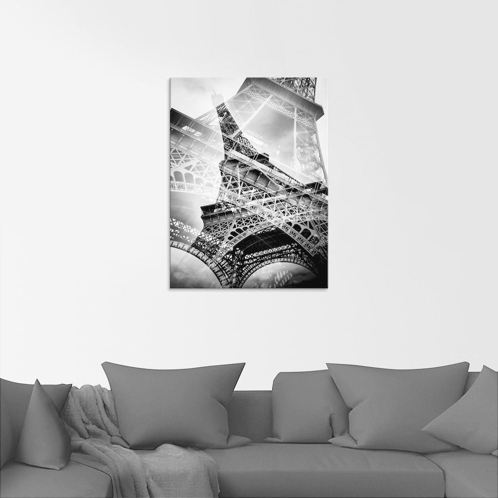 Artland Glasbild »Der doppelte Eiffelturm«, Gebäude, (1 St.)