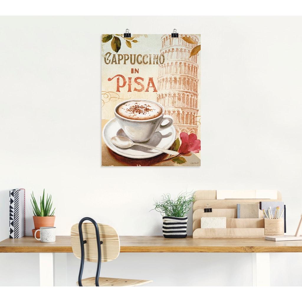 Artland Wandbild »Kaffee in Europa IV«, Getränke, (1 St.), in vielen Größen & Produktarten -Leinwandbild, Poster, Wandaufkleber / Wandtattoo auch für Badezimmer geeignet