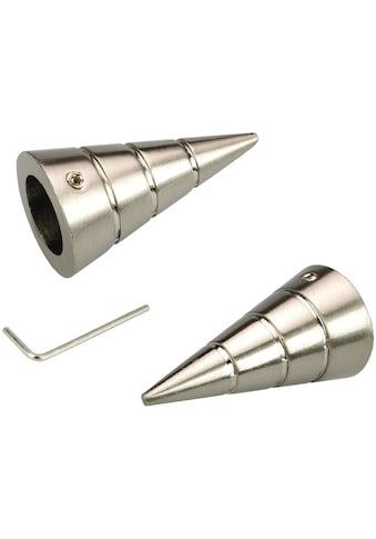 Gardinenstangen - Endstück »Kegel«, Liedeco, passend für Gardinen (Set) kaufen