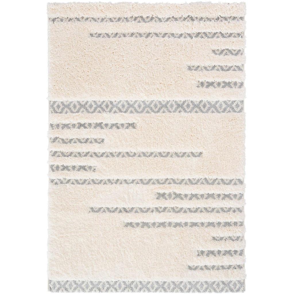 Sehrazat Hochflor-Teppich »Bahama 8823«, rechteckig, 30 mm Höhe, Hoch-Tief-Struktur