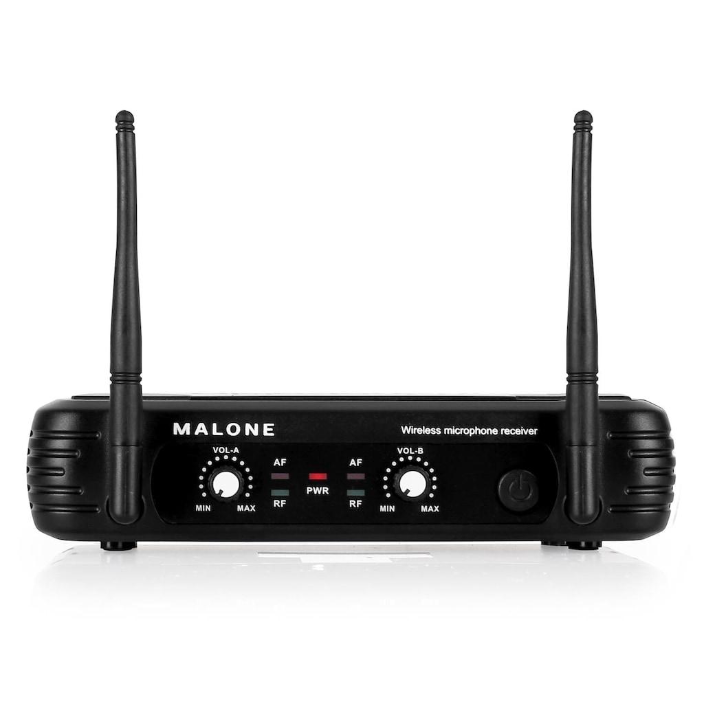 Malone UHF Funkmikrofon Set 2 Kanal »UHF 250 Duo«