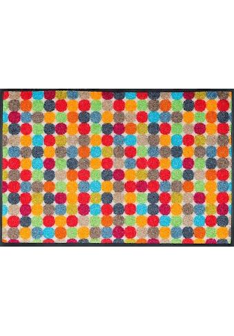 wash+dry by Kleen-Tex Fußmatte »Mikado Dots«, rechteckig, 7 mm Höhe, Schmutzfangmatte kaufen