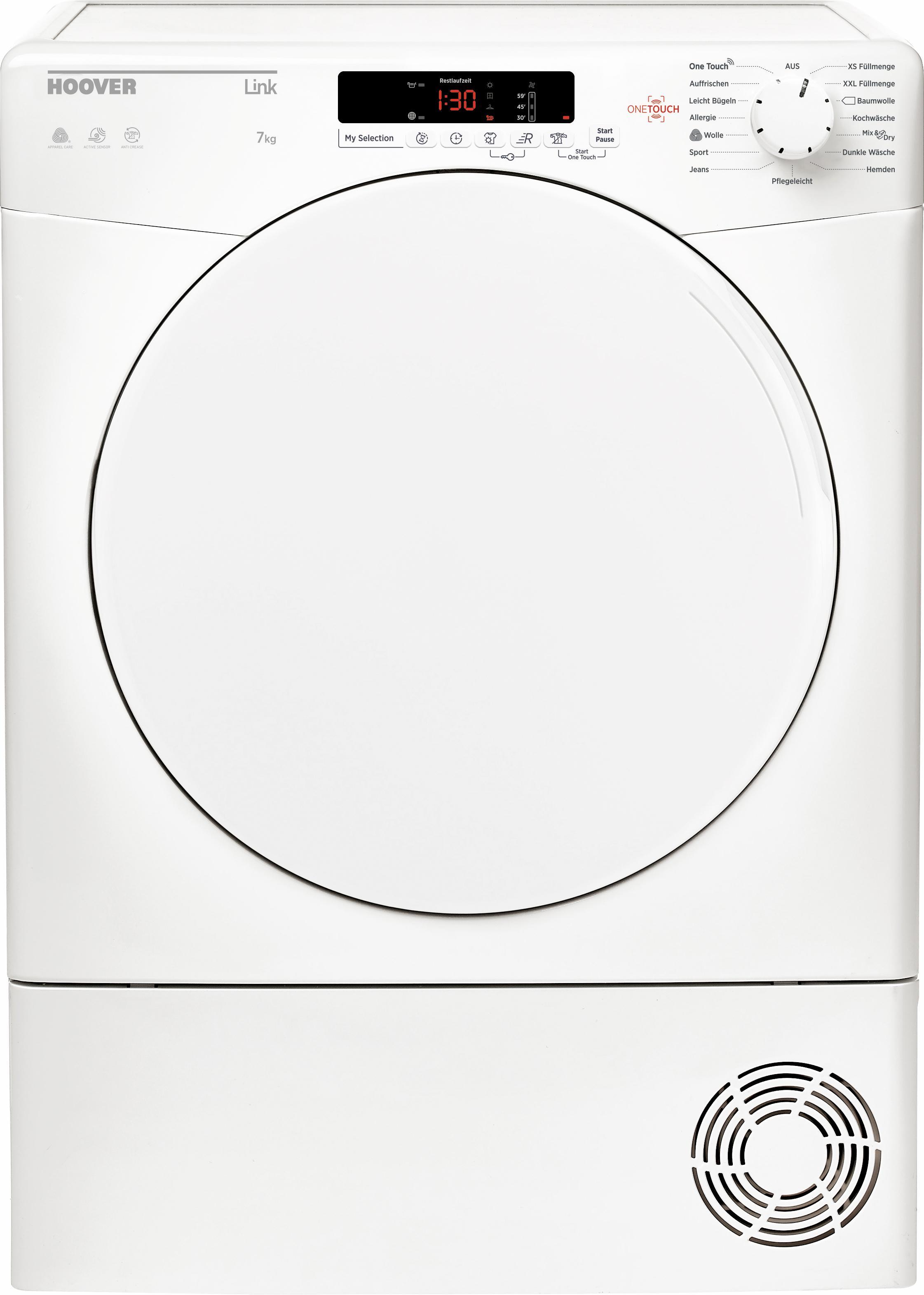 Hoover Kondenstrockner GHLC C7DF-84, 7 kg   Bad > Waschmaschinen und Trockner > Kondenstrockner   Hoover