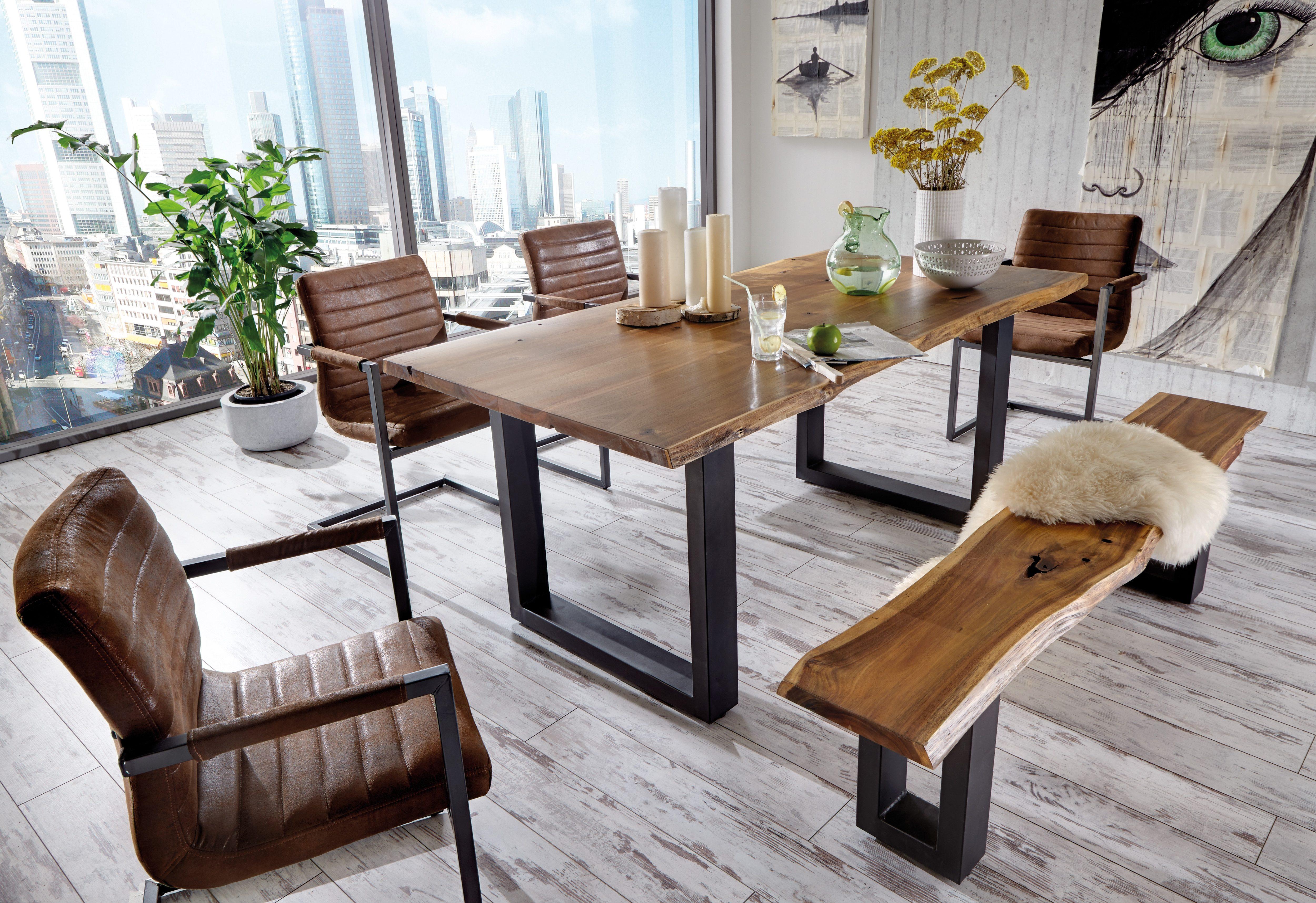 premium collection by home affaire esstisch queens auf. Black Bedroom Furniture Sets. Home Design Ideas