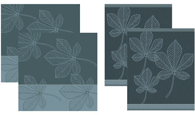 DDDDD Geschirrtuch »Leaves«, (Set, 4 tlg., Combi-Set: bestehend aus 2x Küchentuch + 2x... kaufen