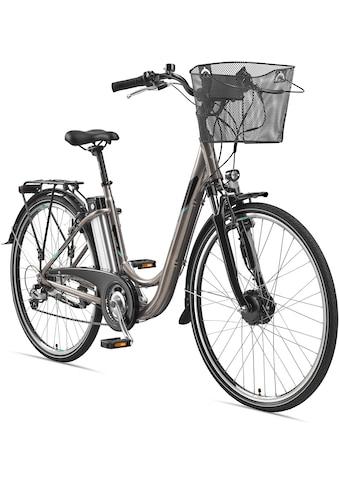 Telefunken E-Bike »Multitalent RC820«, 7 Gang, Shimano, Shimano Acera, Frontmotor 250 W, (mit Fahrradkorb) kaufen