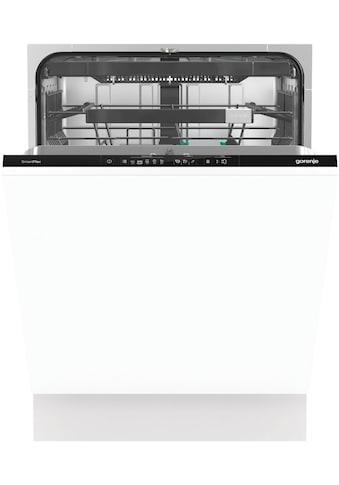 GORENJE vollintegrierbarer Geschirrspüler »GV671C60«, GV671C60, 16 Maßgedecke kaufen