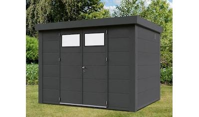 WOLFF FINNHAUS Stahlgerätehaus »Eleganto 3024«, BxT: 318x258 cm, anthrazit kaufen