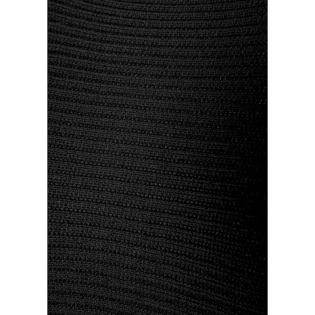 LASCANA Strickkleid, mit U-Boot-Ausschnitt