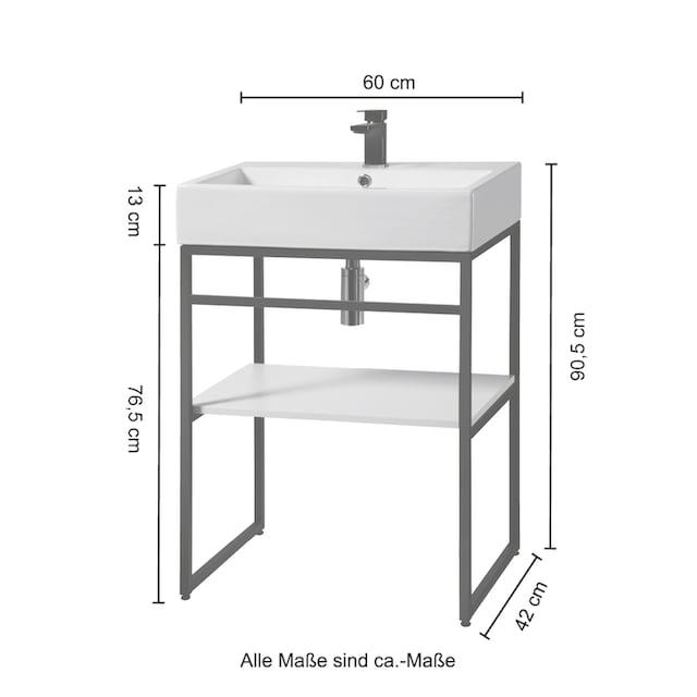 WELLTIME Waschtisch »Metall«, Breite 60 cm