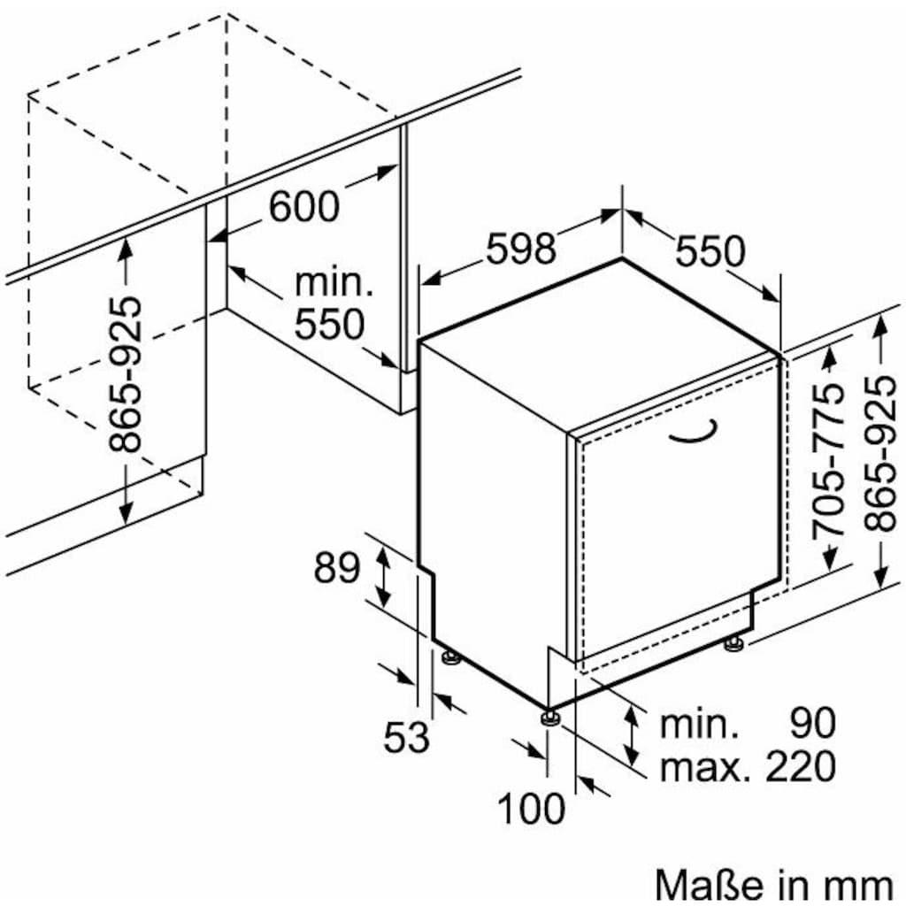 Constructa vollintegrierbarer Geschirrspüler »CG4B05V9«, CG4B05V9, 11,7 l, 12 Maßgedecke