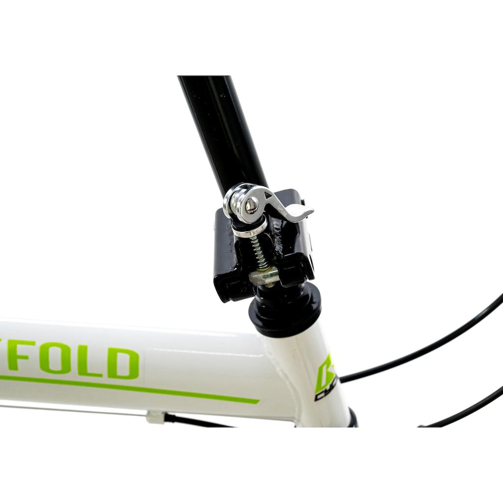 KS Cycling Faltrad »Cityfold«, 6 Gang, Shimano, Tourney Schaltwerk, Kettenschaltung