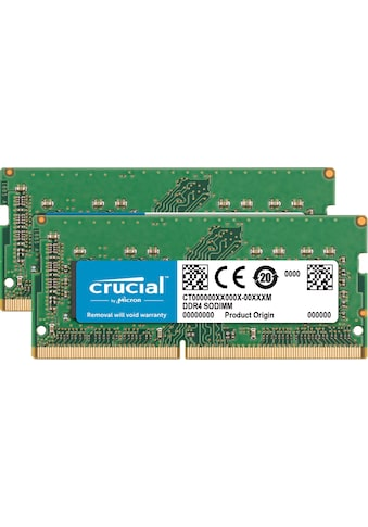 Crucial Laptop-Arbeitsspeicher »64GB DDR4 2666 MT/s Kit 32GBx2 SODIMM 260pin for Mac« kaufen