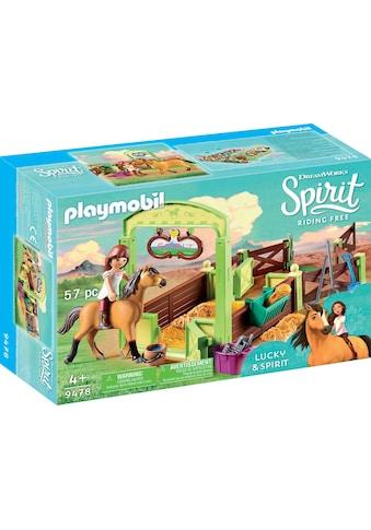 "Playmobil® Konstruktions - Spielset ""Pferdebox Lucky & Spirit (9478), Spirit Riding Free"", Kunststoff kaufen"