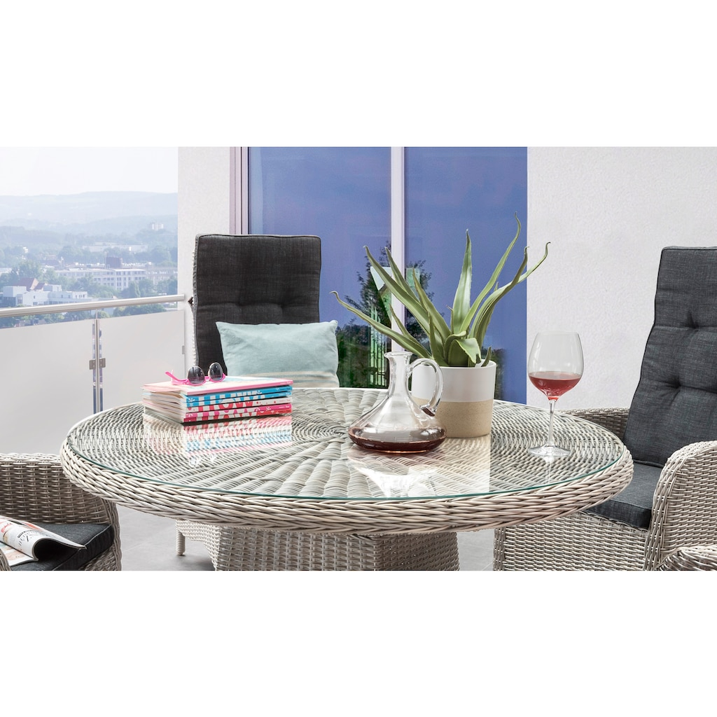 Destiny Gartenmöbelset »Palma Luna«, (5 tlg.), Stühle mit verstellbarer Rückenlehne