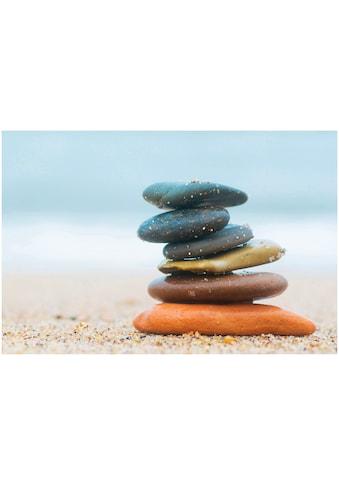 Art & Pleasure Acrylglasbild »Balanced stones«, Landschaften kaufen