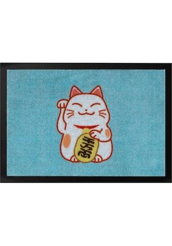 HANSE Home Fußmatte »Lucky Cat«, rechteckig, 7 mm Höhe, Schmutzfangmatte kaufen