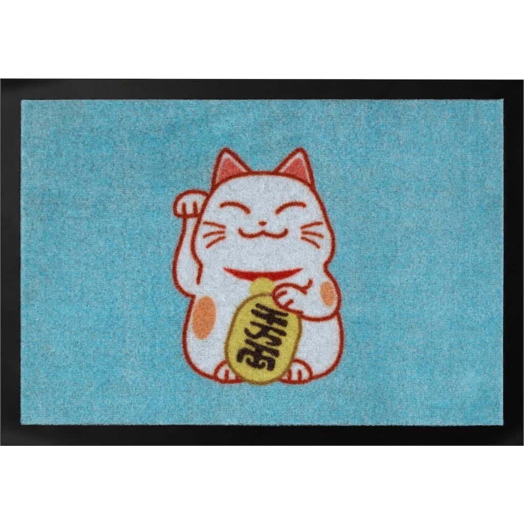 HANSE Home Fußmatte »Lucky Cat«, rechteckig, 7 mm Höhe, Schmutzfangmatte