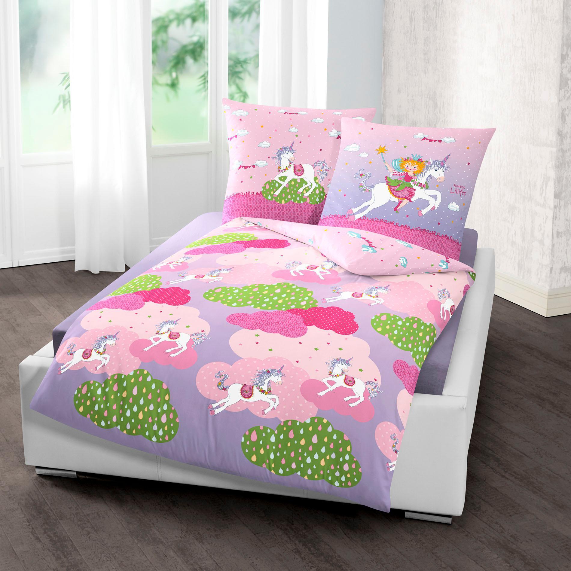 Kinderbettwäsche »Einhorn«, Prinzessin Lillifee | Kinderzimmer > Textilien für Kinder > Kinderbettwäsche | Rosa | Baumwolle | PRINZESSIN LILLIFEE