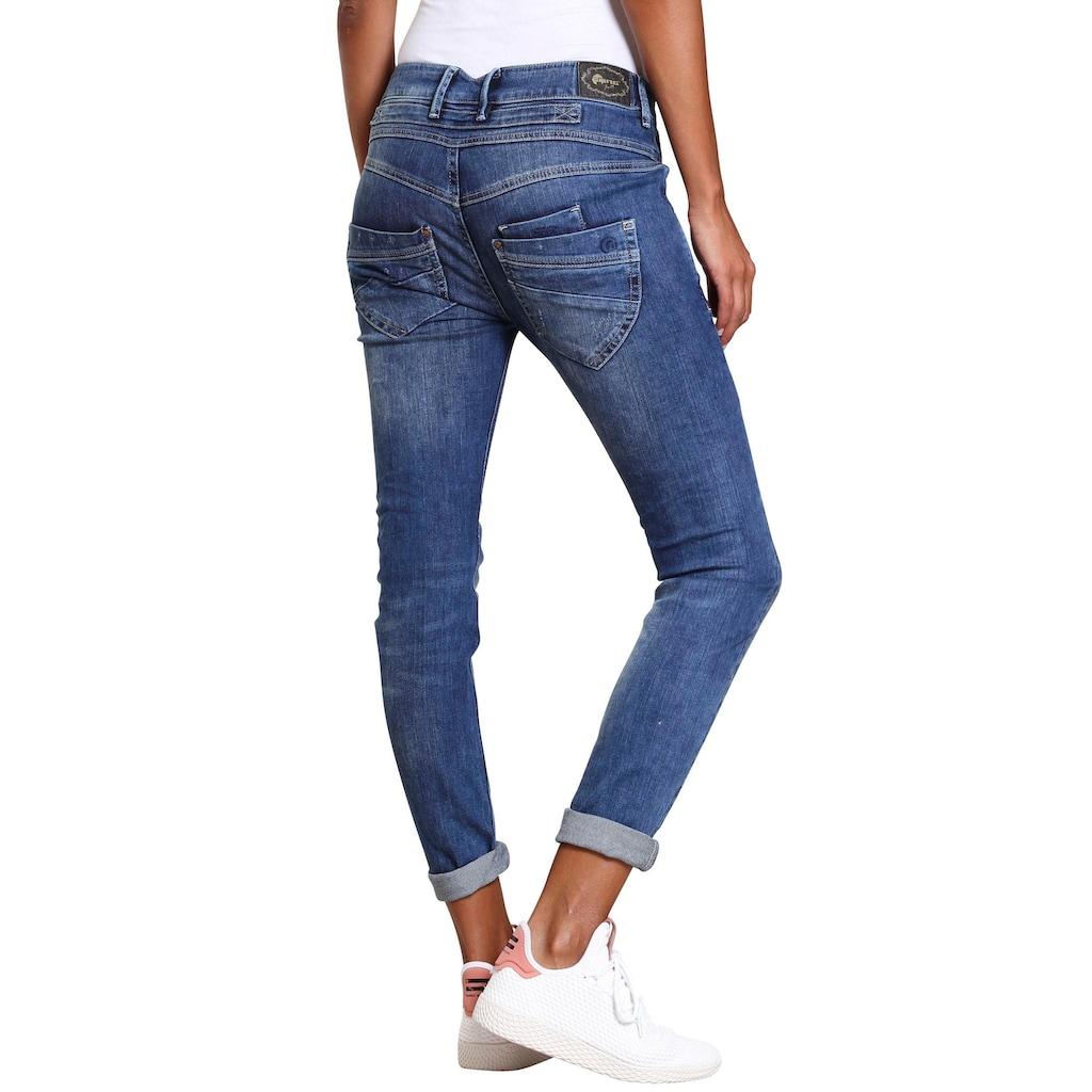 GANG Slim-fit-Jeans »MARGE«, mit besonderem 4-Knopf-Verschluss